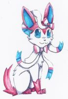Another drawing of sylveon by MarcelineTheKiller
