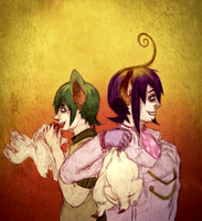 Demons in the Coop - Ao No Exorcist Fanart by JunkUpShowUp