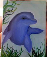 dolphin-Painting by Archykins