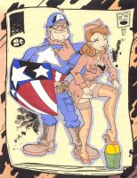 Cap and Major Bombshell by KidNotorious