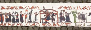 Drachenfest Copper Paladins Tapestry Bayeuxstyle by vulpescorax