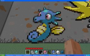 Horsea On Minecraft by Miccopicco