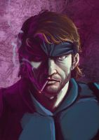 Solid Snake by Mleeg-Art