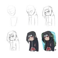 How to draw chibi Itachi by Johnny-Wolf
