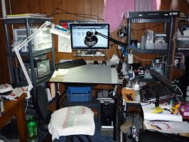 my current workspace by KibugamiKenzo