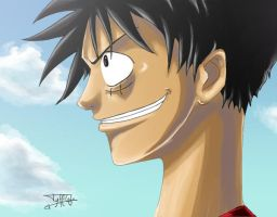 Luffy - Big Smile Colo by Tyfflie