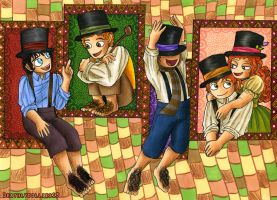 Hats and hobbits by Deathlydollies13