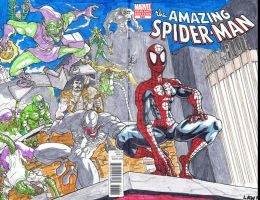 Spiderman and Villains Cover by Marvin000