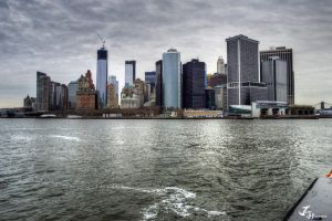 Manhattan From The Ferry by Jonathan-Flash