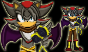 Ash the Hedgebat (Shadouge kid) by nyctoshing