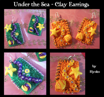 Under the Sea Earrings by Hyo-pon