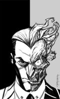Sketch::Two-Face by KharyRandolph