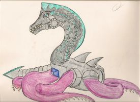 Dawn of Monsters: Cyber Razzek by AkityMH