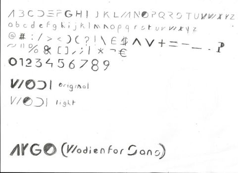 Sketch Concept - Wodienfor Sans by AygoDeviant