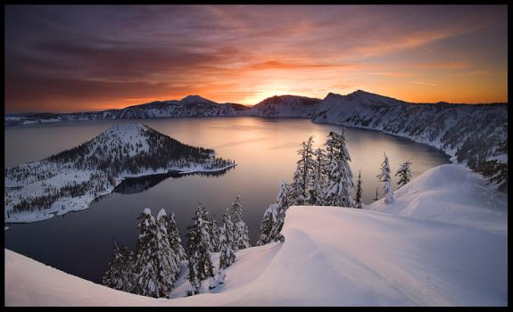 Crater Lake, Winter by MarcAdamus