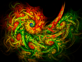 Van Gogh-esque Redux (dragon) by twinx85