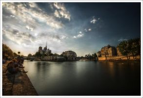 Paris: Here flows the Seine by Graphylight