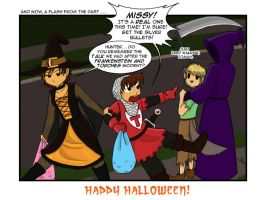 Hunter and Halloween by Kitsune64