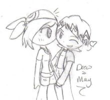 Drew and May by nikiou