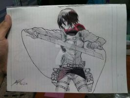 mikasa from ep. 23 by seiji0