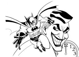 Batman: RAC Cover inks by LostonWallace
