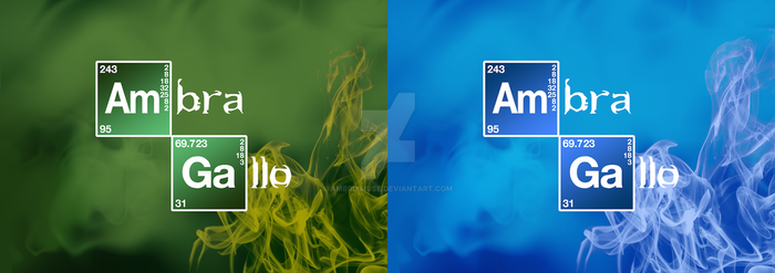 My Name in Breaking Bad Style by AmbrixMUSE