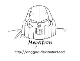 Megatron's Head Sketch by anggaa