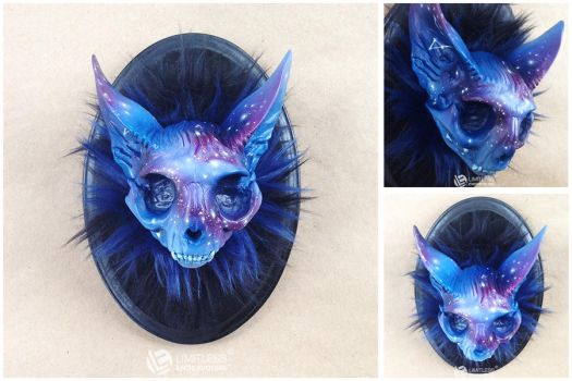 Galaxy Cat Skull by LimitlessEndeavours