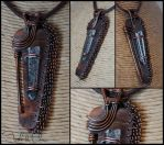 Entirely Reclaimed Copper and Quartz Pendant by tuskandclaw