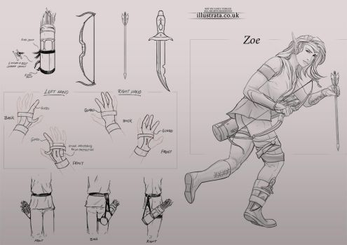 Arrow Elf (Character Design + Callouts) by Chey-the-Illustrata