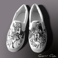 Custom shoes - guitars by surfender