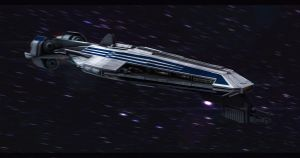 Star Wars CIS Frigate 3D by AdamKop