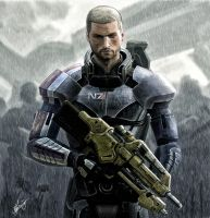 John Shepard (Mass Effect 3) by Lensar