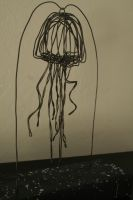 Jellyfish Wire Sculpture by benjamin-phelps