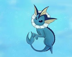Swiming vaporeon by DeathAuther