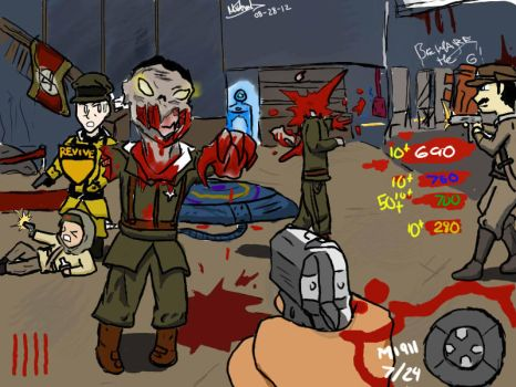 CoD Black Ops : zombies :D by TheUndeadArtist