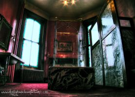 Lemp - Red Bathroom by ellysdoghouse