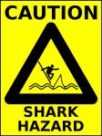 caution - sharks by madster