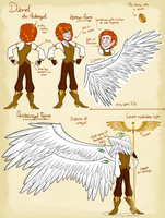 Dabriel the Archangel Reference Sheet by kimyk0