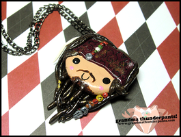 Jack Sparrow Necklace by GrandmaThunderpants