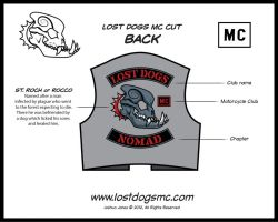 Lost Dogs MC Patches Cut Back by yolkum