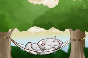 Sleeping Chiramii by Angel-Tezza