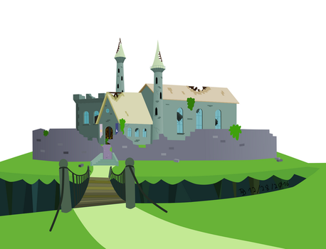 Castle of the two sisters - Colored by DarkDabula