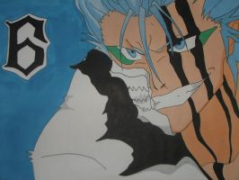Grimmjow Fan Art by Porkchopexpress500