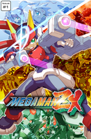 Megaman ZX Issue 1: Cover by RadzHedgehog