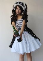 Infanta Lace Up Maid Cosplay Lolita Dress by miccostumes