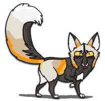 Cartoon Cross Fox Character by silvercrossfox