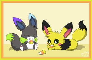 Candy Nom by pichu90