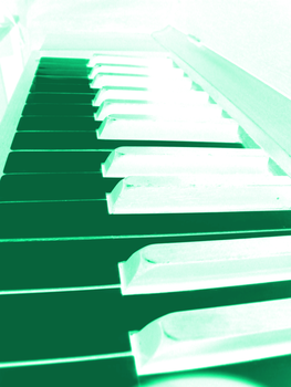 Teal Piano by eternalsailorpisces