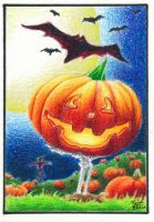 Great Pumpkin ACEO by Trigar